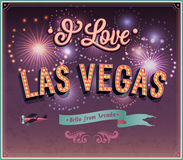 Greeting card from Las Vegas - Nevada. Stock Photo