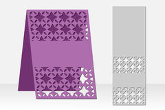 Greeting card laser cutting. Silhouette design. Ethnic pattern. Royalty Free Stock Photos