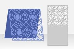 Greeting card laser cutting. Silhouette design. Pattern. Royalty Free Stock Image
