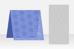 Greeting card laser cutting. Silhouette design. Pattern. Stock Images