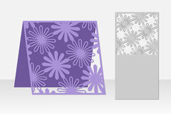 Greeting card laser cutting. Silhouette design. Pattern. Royalty Free Stock Images