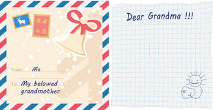 Greeting card letter Royalty Free Stock Images