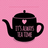 Greeting card. Lettering. I love tea. Royalty Free Stock Images