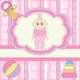 Greeting card for little girl Stock Photo