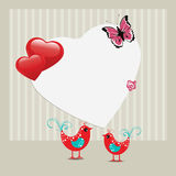 Greeting card with love birds. Royalty Free Stock Photo