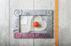 Greeting card with love Royalty Free Stock Photo