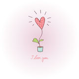 Greeting card - love greetings Stock Image