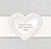 Greeting card. love heart frame for Valentine day  Royalty Free Stock Images