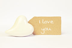 Greeting-card love Stock Photography
