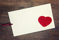Greeting card love Stock Image