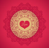 Greeting card with love Stock Photos