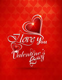 Greeting card love Valentines day heart colorful background Royalty Free Stock Photography
