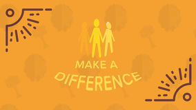 Greeting card with make a difference message. Vector of greeting card with make a difference message Royalty Free Stock Images