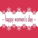 Greeting card from March 8, International Women`s Day. Royalty Free Stock Photos