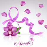 Greeting Card on 8 March vector illustration