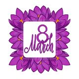 Greeting card from March 8, International Women`s Day. Greeting card. 8 March Royalty Free Stock Photo