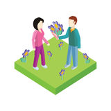Greeting Card 8 March Woman Day. 3d 8 march, greeting card, womans day, flowers and international womens day, spring holiday, march 8 day, celebration woman 8 stock illustration