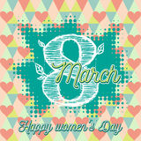 Greeting card with 8 March womens Day_3 Royalty Free Stock Image