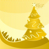 Greeting card for a Merry Christmas. Royalty Free Stock Photography