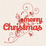 Greeting card Merry Christmas Royalty Free Stock Images
