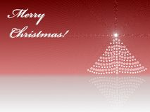 Greeting card of Merry Christmas. With red background Royalty Free Stock Images
