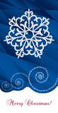 Greeting card merry Christmas blue. Greeting Christmas card with snowflake on blue background Royalty Free Stock Photography