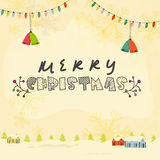 Greeting card for Merry Christmas celebration. Royalty Free Stock Photography