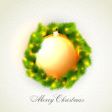 Greeting card for Merry Christmas celebration. Stock Images