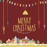 Greeting card for Merry Christmas celebration. Stock Photography