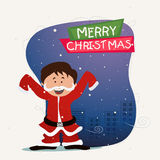 Greeting card for Merry Christmas. Royalty Free Stock Photo