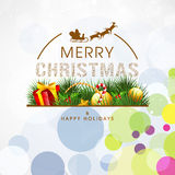 Greeting card for Merry Christmas and Happy Holidays. Royalty Free Stock Images
