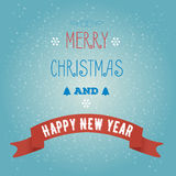 Greeting card Merry Christmas and happy new year.  stock illustration
