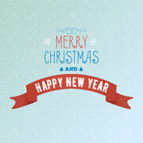 Greeting card Merry Christmas and happy new year with background. Angels Royalty Free Stock Photo