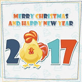 Greeting card, Merry Christmas and Happy New Year Royalty Free Stock Photos