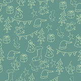 Greeting Card Merry Christmas and Happy New Year royalty free illustration