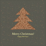 Greeting card. Merry Christmas and New Year. Stock Image