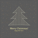 Greeting card. Merry Christmas and New Year. Royalty Free Stock Photos