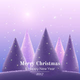 Greeting card Merry Christmas Royalty Free Stock Image