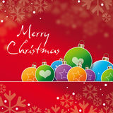 Greeting card  merry cristmas Stock Photos