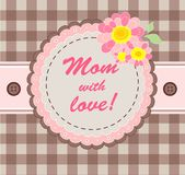Greeting card for mom Royalty Free Stock Images