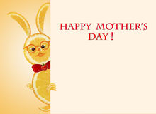Greeting card for mom with cute animals, made of vegetable  and Stock Photography