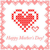 Greeting card for mom. Happy Mother's Day Stock Image