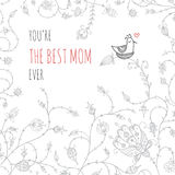 Greeting card for mom with love Royalty Free Stock Photos