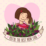 Greeting card for mom with love Stock Photo