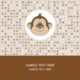 Greeting card.Monkey Stock Images