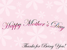 Greeting card for mother's day. Vector illustration of greeting card for mother's day Stock Photography