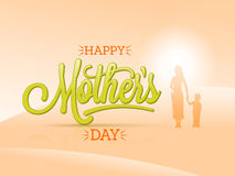 Greeting Card for Mother's Day celebration. Stock Photo
