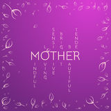 Greeting Card for Mother's Day. Delicate design concept. Typical Stock Photography