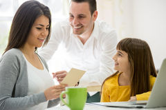 Greeting card for mother and wife Stock Photos