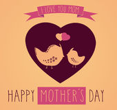 Greeting card for Mothers Day Stock Image